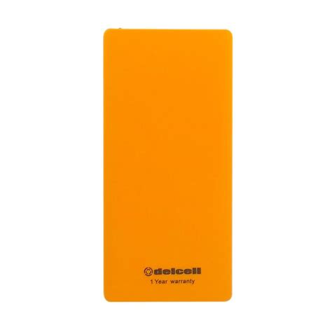 Delcell Power Bank Eco Polymer Battery Real Capacity 10000 Mah Colour jual delcell eco powerbank orange 10000 mah real capacity harga kualitas