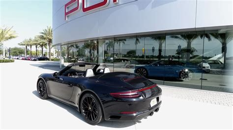 porsche 911 gts black 2017 jet black porsche 911 4 gts cabriolet 450 hp