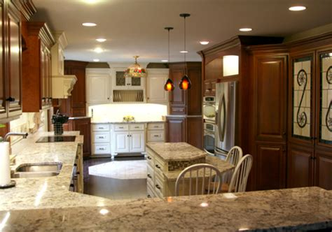 Kitchen Cabinets Design Photos Meyer Brothers And Sons Custom Multi Finish Cherry Cabinets