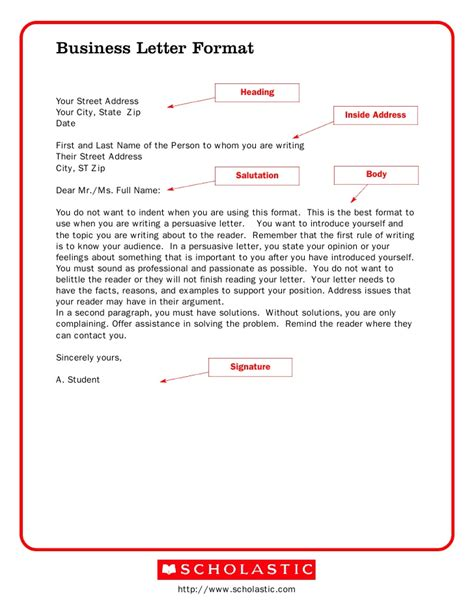 Business Letter Exles Book Business Letter Format