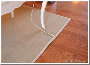 Rugs Cut To Size Wire And Cord Management System Inmyownstyle