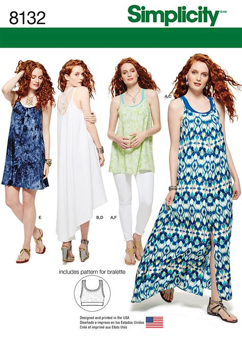 pattern review simplicity 1280 simplicity simplicity pattern 8132 misses tank dress or