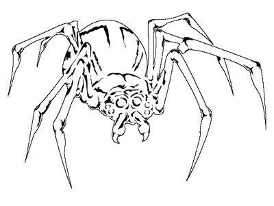 stencil spider style 2 full size airbush template