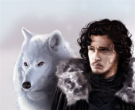wallpaper ghost game of thrones jon snow and snow bear hd wallpaper celebrities