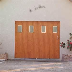 porte de garage coulissante janibel bois fermetures