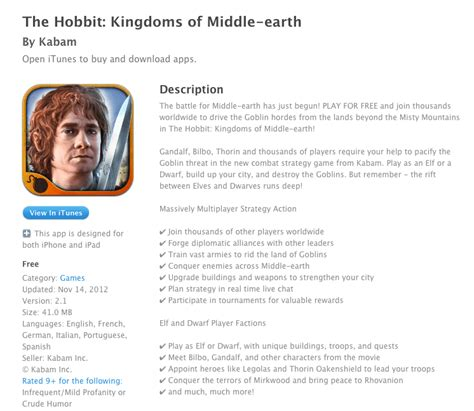 review the hobbit kingdoms of middle earth by kabam ios review the hobbit kingdoms of middle earth