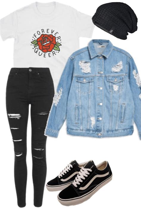 casual everyday grunge outfit polyvore vetements pour