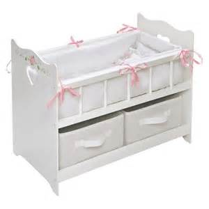 Cribs For Dolls by Badger Basket White 18 Quot Doll Crib With Two Target