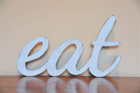 wooden words home decor eat wood sign words home decor kitchen