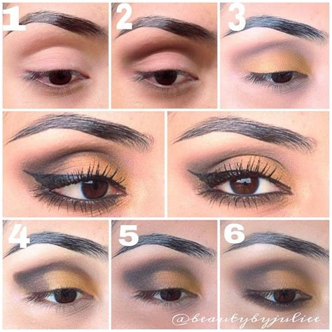 Valege Eye Shadow Brown Yellow step by step eye makeup pics my collection yellow brown and tutorials