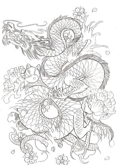 dragon tattoo outline designs blackbirdinkhouse tattoos japanese