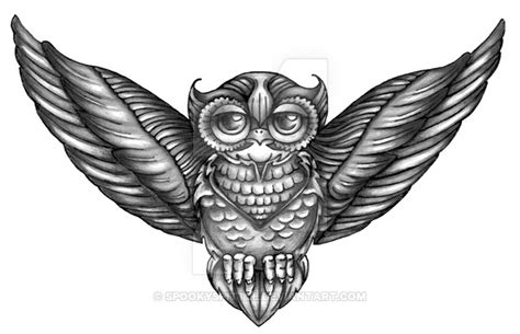owl chest tattoo i by spookyspittle on deviantart