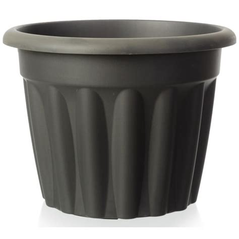 buy large plastic flower plant pot vista range green black