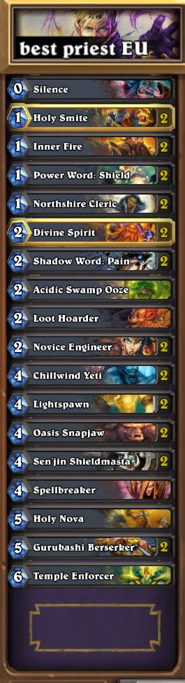 cheap priest deck hearthstone priest deck hearthpwn cheap 28 images priest halion