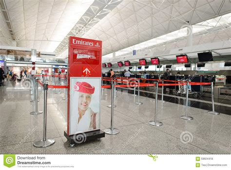 emirates online check in emirates check in area editorial stock photo image of