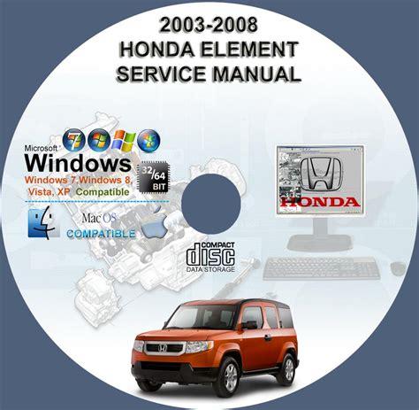 service manuals schematics 2008 honda element user handbook honda element 2003 2008 service repair manual on cd 03 04 05 06 07 08 www servicemanualforsale com