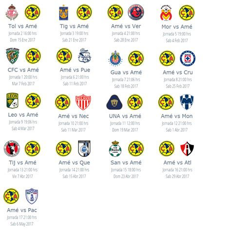 Calendario America Clausura 2015 Search Results For Estadisticas De Futbol Mexicano