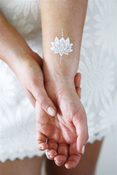 small white wrist tattoos best 25 white lotus ideas on lotus