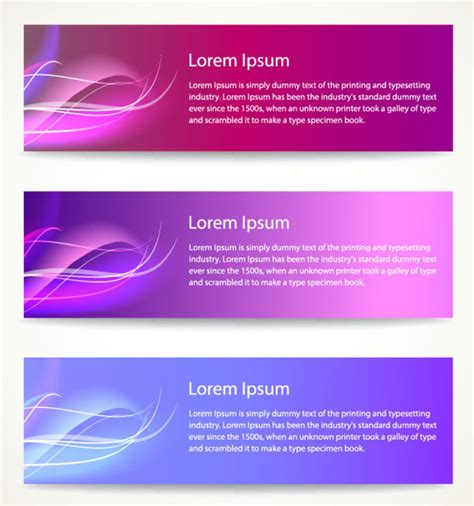 free download layout banner vector modern abstract banner design 01 vector banner