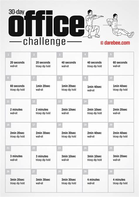 day office challenge  darebee workout exercise