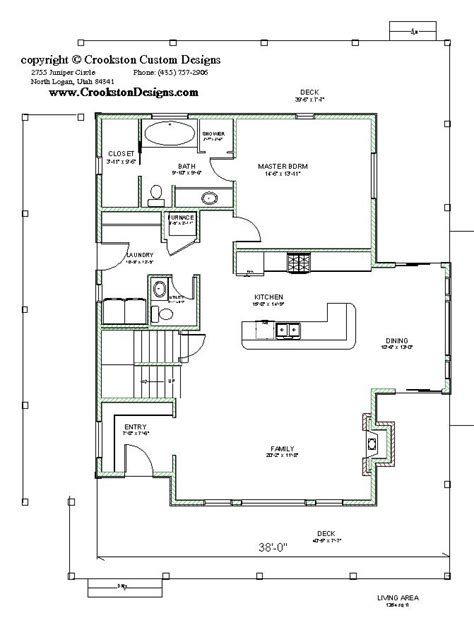 floor plan main is 6900sq crookston designs plan 10054 00