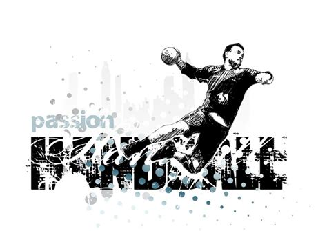 Power Magnetic Poster Sport Sticker Handball 1 Person Play Point Pixersize