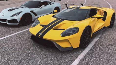 Ford Gt Vs Corvette by Ford Gt Vs Chevrolet Corvette Zr1