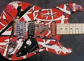 eddie van halen s frankenstrat pictured with 22 fret
