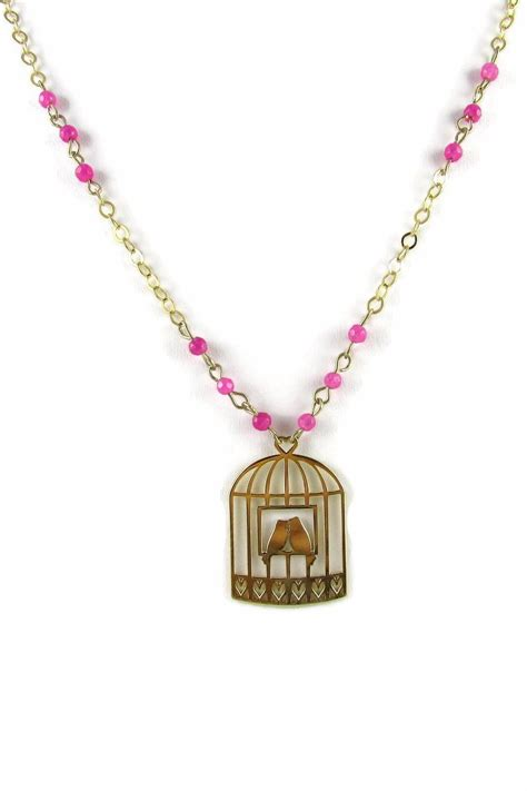 millie jewelry birdcage necklace from cambridge