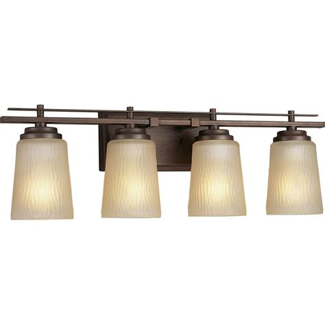 home depot bathroom vanity light fixtures progress lighting riverside collection 4 light heirloom