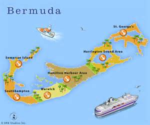 bermuda on a map carnival cruise to bermuda from nj