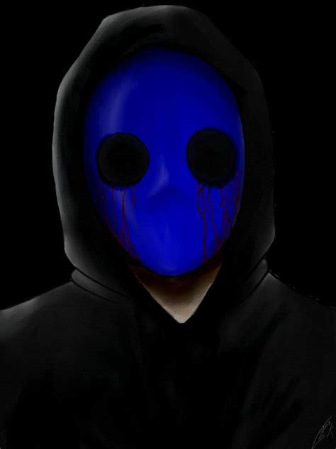 imagenes de jack mascara azul dibujo 1 eyeless jack creepypastas amino amino