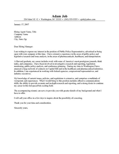Policy Cover Letter by Policy Cover Letter 1585
