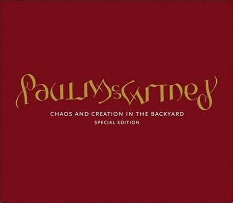 paul mccartney chaos and creation in the backyard paul mccartney ambigram name logo used for chaos and