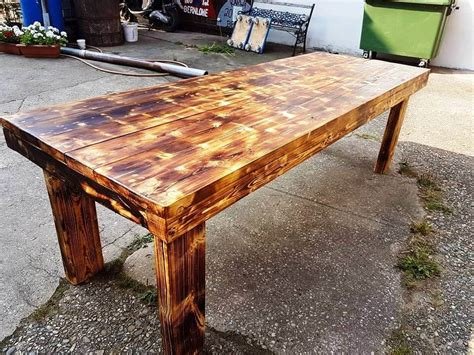 dining table from pallets fancy dining table from pallets and beams pallet