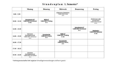 Kostenlose Vorlage Stundenplan so geht s stundenplan erstellen f 252 rs studium unicum