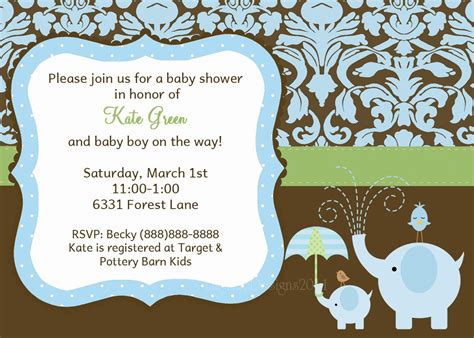 baby shower baby boy shower invitations card