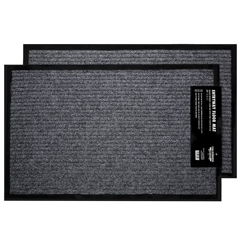 100 Floors Fe 66 by 2 Pk Indoor Outdoor Commercial Floor Mat Rugged Rug 20 Quot X