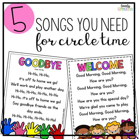 colors rap song 5 songs you need for preschool circle time lovely commotion