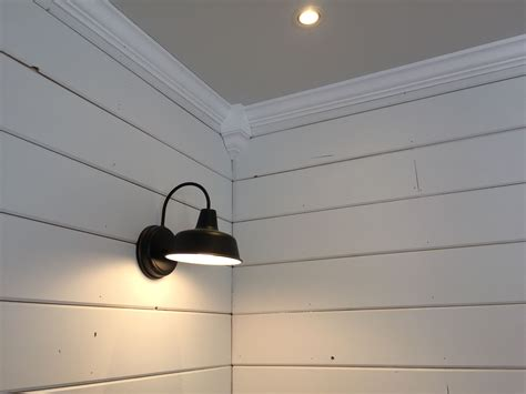 shiplap molding ideas crown molding shiplap and barely gray ceiling i did all