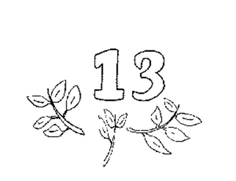 coloring pages for the number 13 number 13 coloring page coloring pages