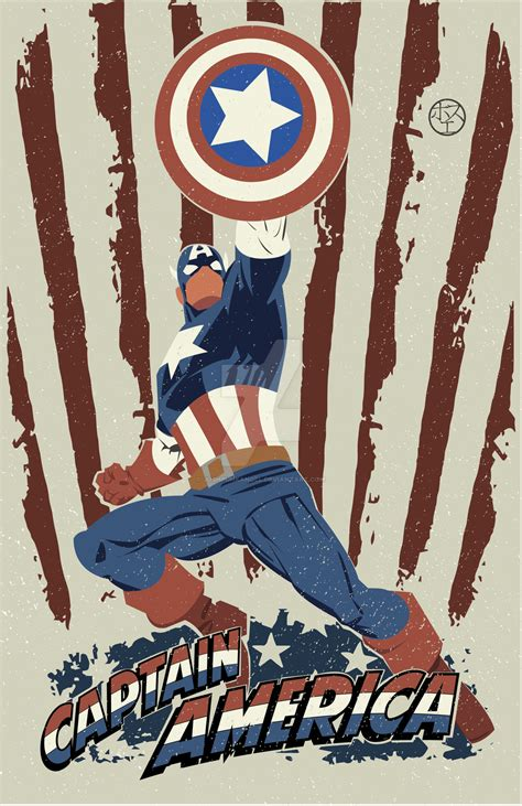 captain america vintage by joshpunkangel on deviantart