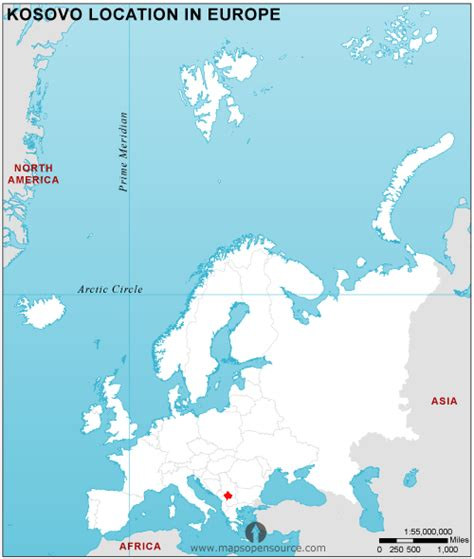 where is kosovo on a world map free kosovo location map in europe kosovo location in