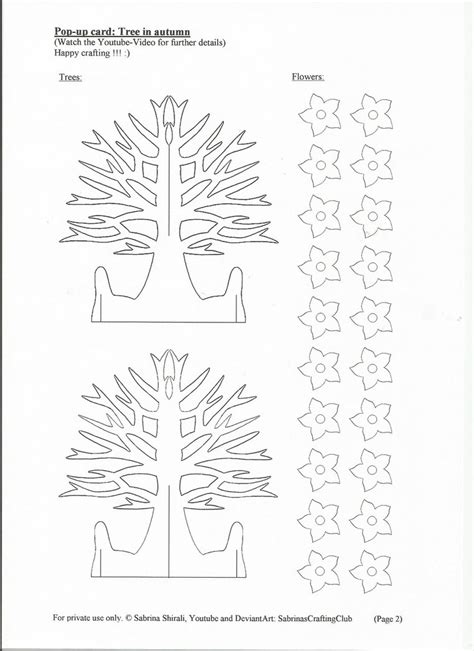 Pop Up Card Tree Page 2 By Sabrinascraftingclub On Deviantart Pop Up Card Templates 2