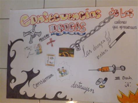 pancartas sobre las drogas unidad educativa mariscal sucre
