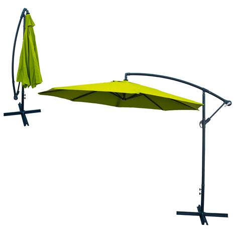Hanging Patio Umbrella Patio Umbrella Offset 10 Hanging Umbrella Outdoor Market Umbrella Lime Green Ebay