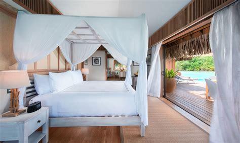conrad bedroom conrad bora bora nui a bora bora resort spa tahiti