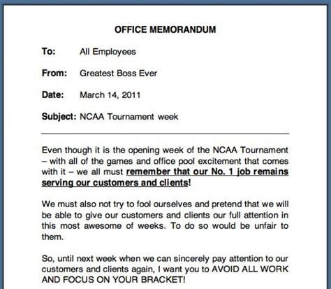 office memo office memo from the world s greatest re ncaa