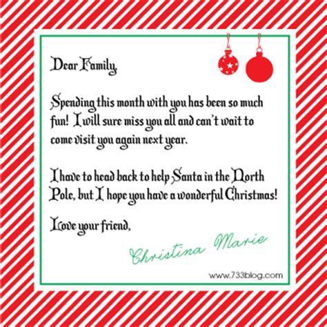 elf   shelf goodbye letter