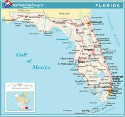 florida map with cities labeled general map of florida